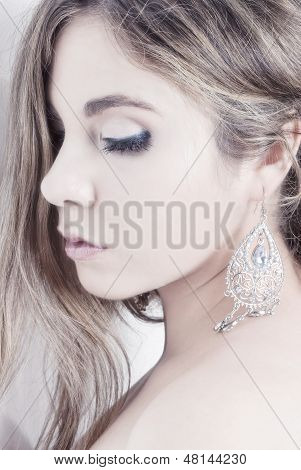 High Key Profile Woman Portrait