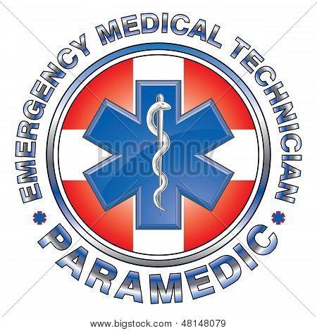 Paramédico EMT Medical Design Cross