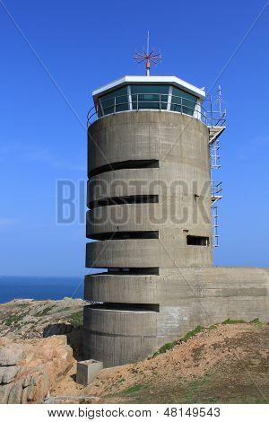 Jersey, German Watch Tower And Bunker Near La Corbiere, Channel Islands