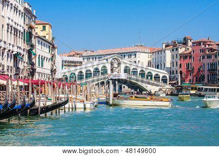 Venice - Rialto Bridge And Canale Grande