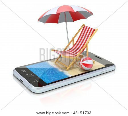 Beach in the smartphon