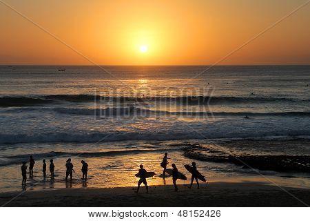 Surfers On Sunset