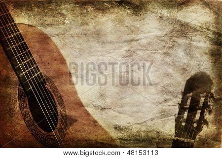Grunge hintergrund Gitarre