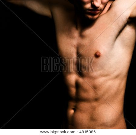 Artistic Image Of Muscular Sexy Man Body