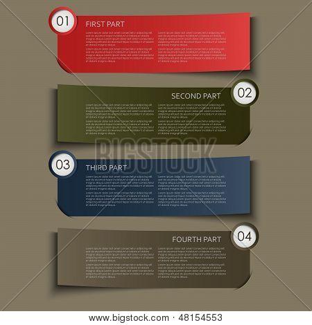Information part banner design element
