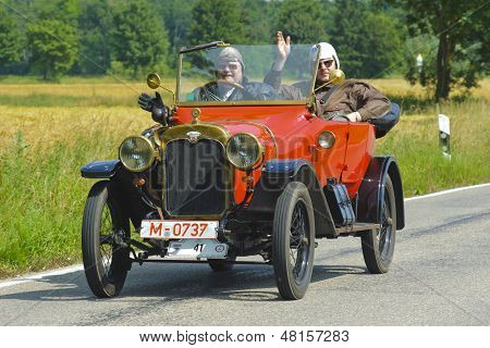 rally de coches de Oldtimer