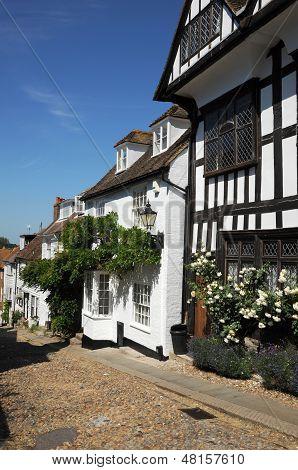 English Tudor cottages. Rye West Sussex.