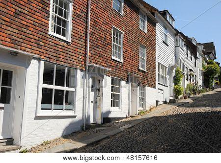 English village on a hill