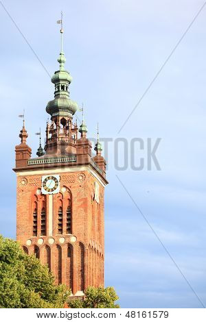 St. Catherine's Church In Gdansk, Poland