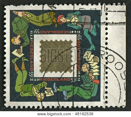 NETHERLAND - CIRCA 1991: A stamp printed in Netherland shows image of the Mail Netherland, circa 1991.