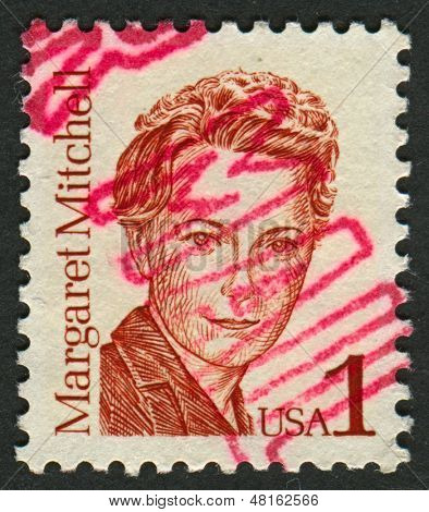 USA - CIRCA 1986: A stamp printed in USA shows image of the Margaret Munnerlyn Mitchell (November 8, 1900 - August 16, 1949) was an American author and journalist, circa 1986.