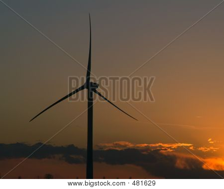 Windfarm Sunrise Sunset