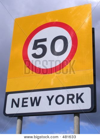 New York Speed Sign