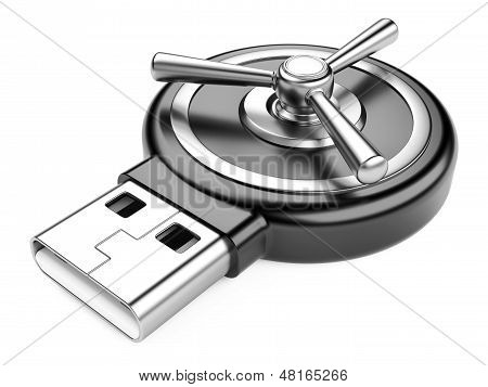 Usb Flash Drive And Combination Lock