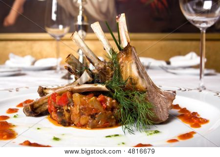 Lamb Meat On Bones