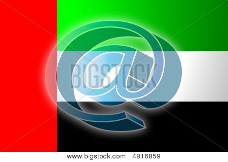 United Arab Emirates Flag Internet Illustration