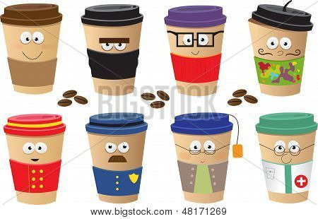 Coffee Cups Characters
