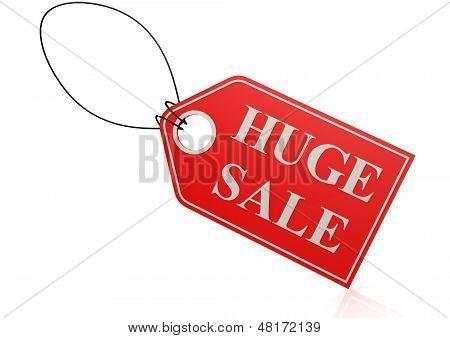 Huge sale label
