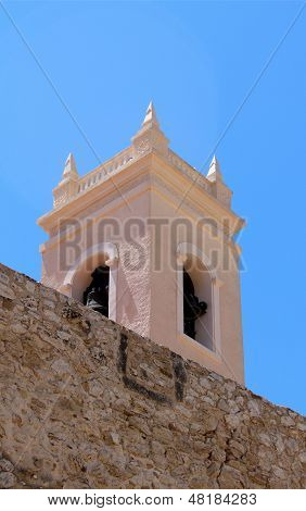 Torre�n De La Pe�a Ancient Fortified Wall And The Tower Bell Of Parish Church Nuestra Se�ora D