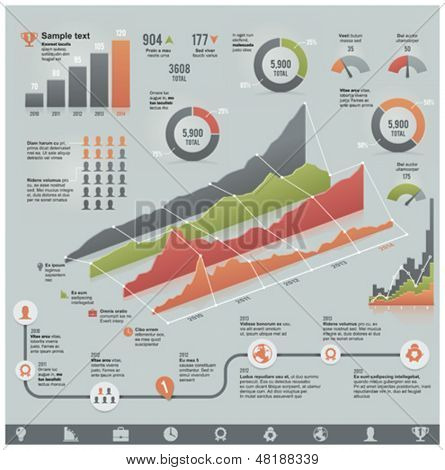 Vector business related infographic elements