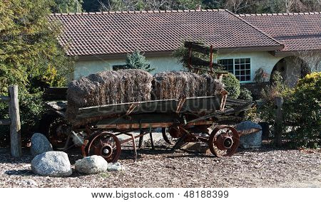 Antique Hey Wagon in rural Setting