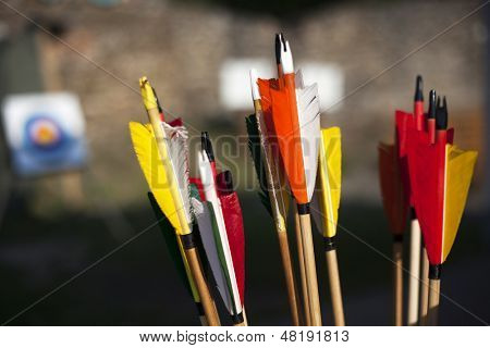 Close up on arrows