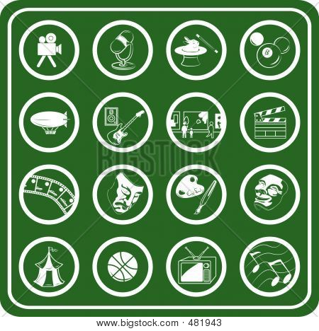 Icon Set: Hobbies And Entertainment