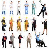 image of people work  - Businessmen builders nurses architect - JPG