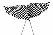 image of sidecar  - Large Checkered Flags made in 2d software - JPG