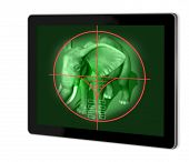 stock photo of voyeur  - viewfinder of sniper rifle made in 2d software - JPG