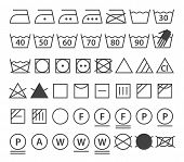 stock photo of laundromat  - Set of washing symbols  - JPG