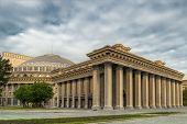 stock photo of novosibirsk  - Novosibirsk academic opera theatre  - JPG