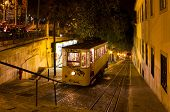 Lisbon Gloria Funicular Night Shot
