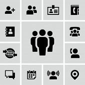 picture of people talking phone  - Business people icons set - JPG