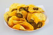 pic of nachos  - Nacho chips with peppers - JPG