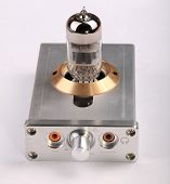 image of rectifier  - image of one Vacuum Tube Amplifier in metal case