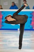 INNSBRUCK, AUSTRIA - JANUARY 16 Carlo Vittorio Palermo (Italy) places 12th in the men's figure skati