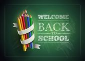 stock photo of colorful banner  - Welcome back to school - JPG