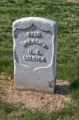 image of arlington cemetery  - Arlington National Cemetery grave marker for an unknown soldier from the American Civil War - JPG