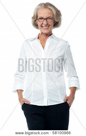 Senior Woman In Corporate Attire