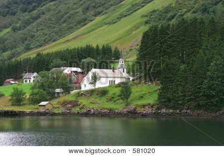 Village In Fiords