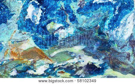 dioptase (blue garnet)