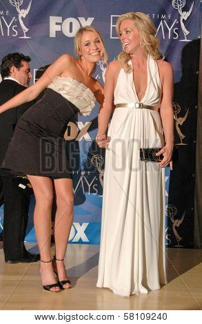 Katrina Bowden and Jane Krakowski in the press room at the 59th Annual Primetime Emmy Awards. The Shrine Auditorium, Los Angeles, CA. 09-16-07