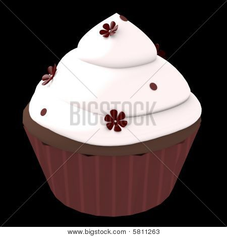 Chocolate Cupcake - 3D Computer Generated