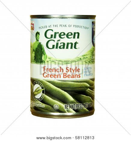 Can Of Green Giant French Style Green Beans