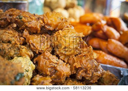 Indian Onion Baji Background