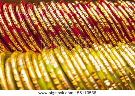 Background Of Colorful Indian Bangles