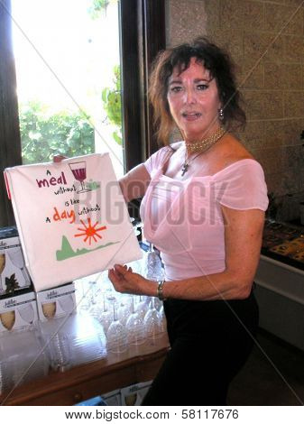 Edy Williams at a Temecula Wine Tasting, Temecula, CA 08-08-07