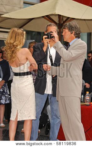Michelle Pfeiffer with Jeff Bridges and David E. Kelley at the ceremony honoring Michelle Pfeiffer with the 2,345th star on the Hollywood Walk of Fame. Hollywood Boulevard, Hollywood, CA. 08-06-07