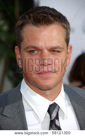Matt Damon at the world premiere of
